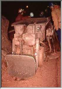 Atlas CopCo machine in underground workings