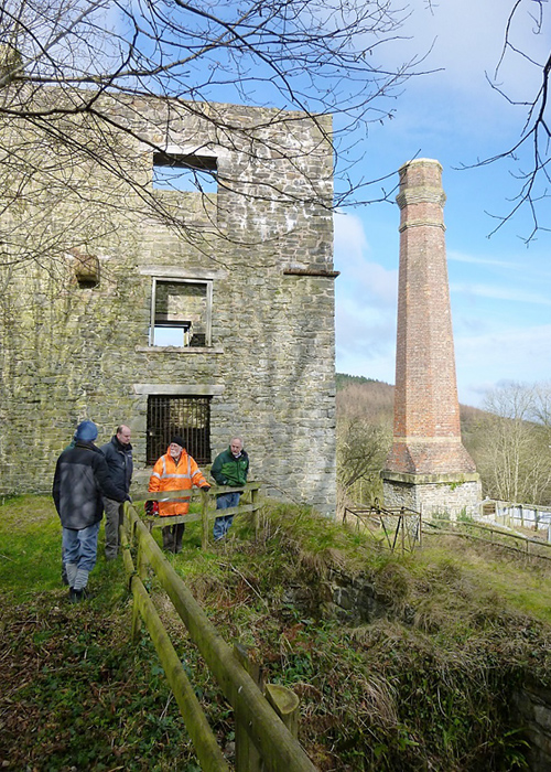 Shropshire Mines Trust members at Tankerville mine